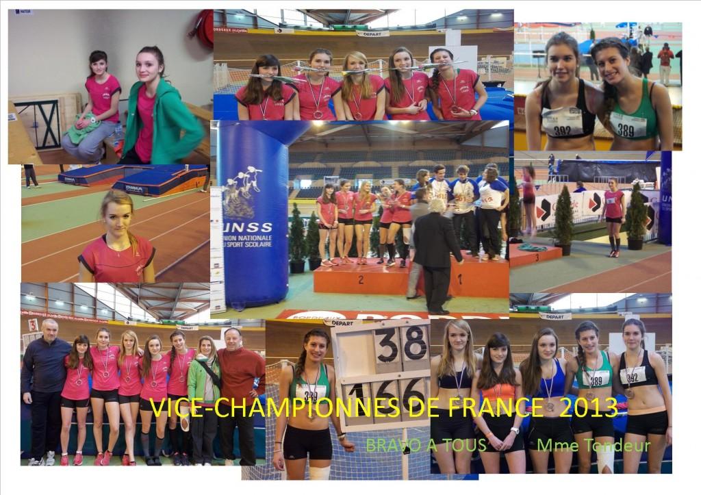 vice- championnes france 2013