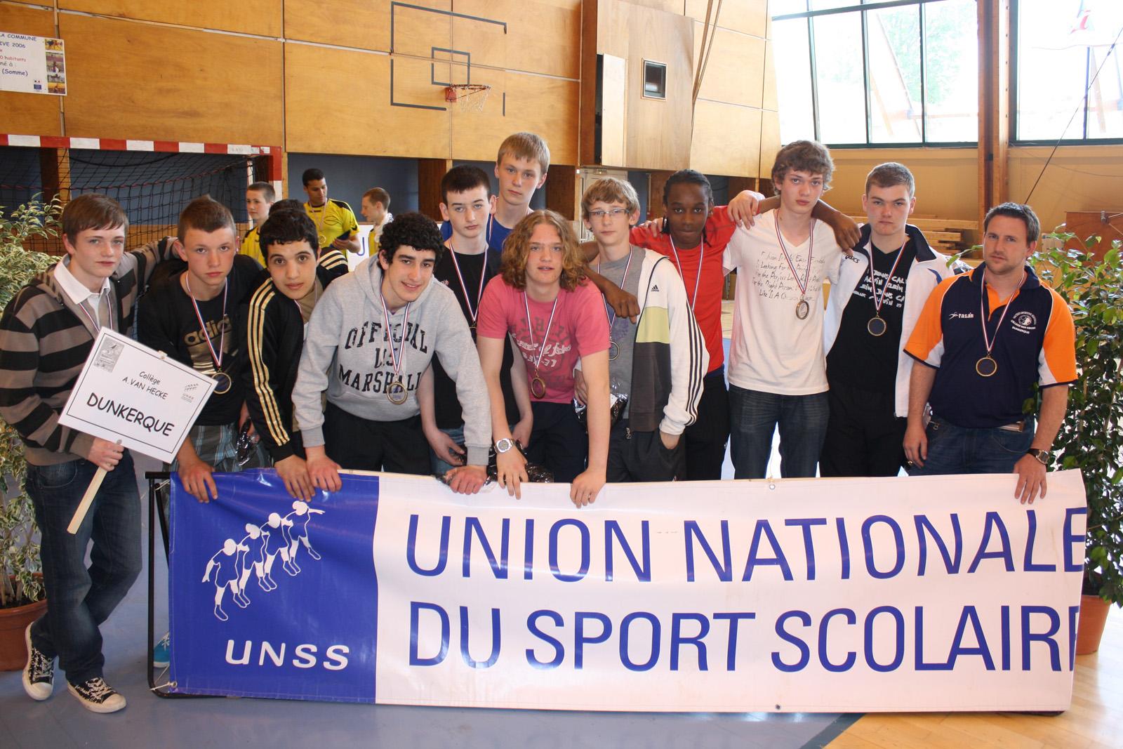 Le collège Van hecke médaille de bronze aux France de Handball excellence